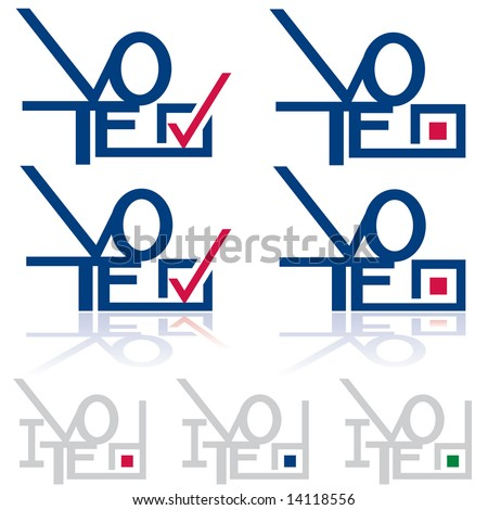 """collection of """"Vote"""" graphics with checkmark / checkbox symbols in JPEG/TIFF format (Image ID for vector version: 14104792)"""