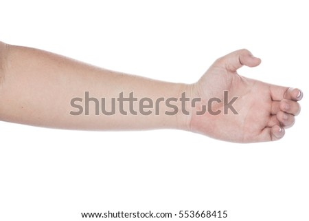 collection of woman hands on white background #553668415