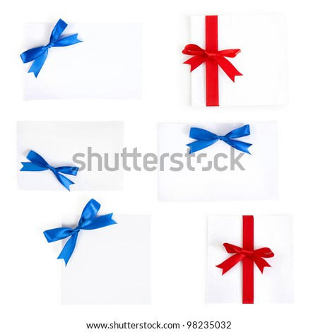 collection paper with a bow - stock photo