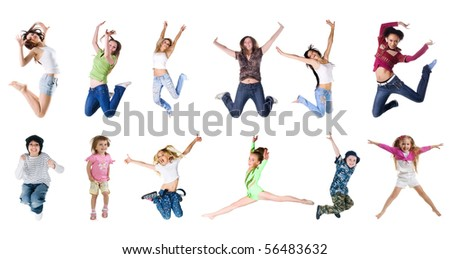 Collection photos of jumping people