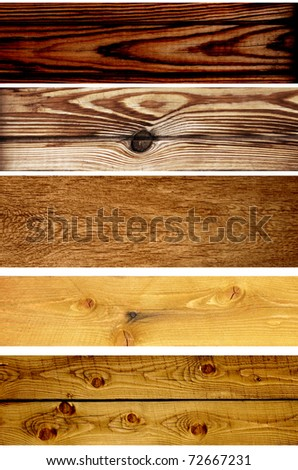 Collection wooden banners - texture old wood