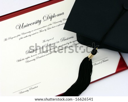 College Diploma and Cap