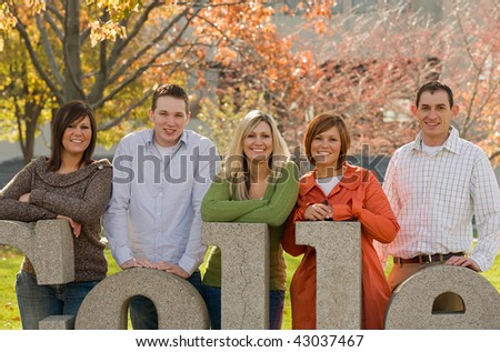 College Kids on Campus Grounds