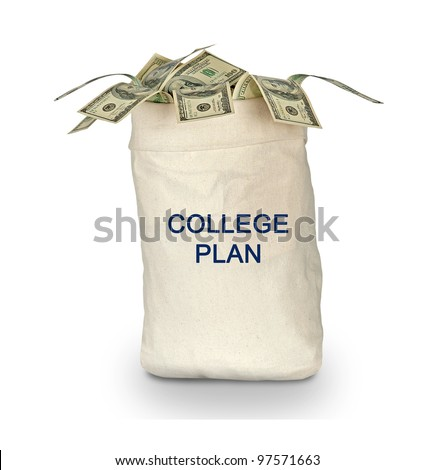 College plan - stock photo