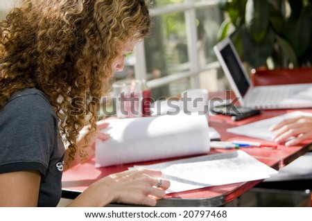 college student studying