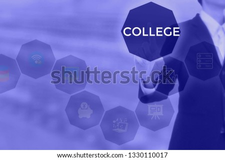COLLEGE - technology and business concept #1330110017