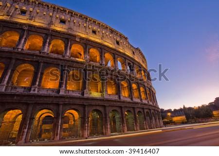 Colloseum Rome Italy at night