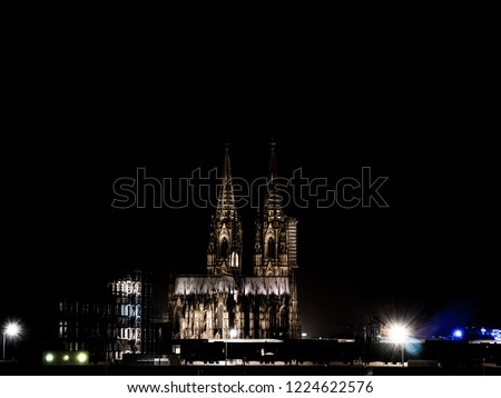 Cologne Cathedra at night, Kölner Dom bei Nacht #1224622576
