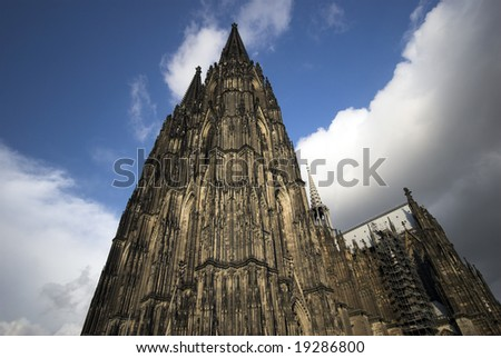 Cologne Cathedral. Famous International Landmark in Germany. UNESCO World Heritage Site.