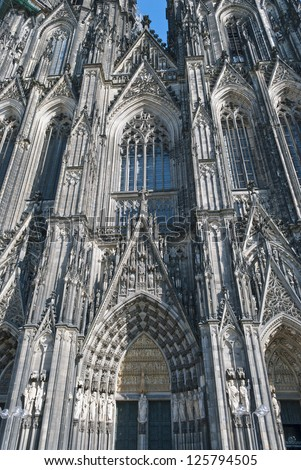 Cologne Cathedral (German: Koelner Dom, officially Hohe Domkirche St. Peter und Maria, English: High Cathedral of Sts. Peter and Mary), a Roman Catholic church in Cologne, Germany
