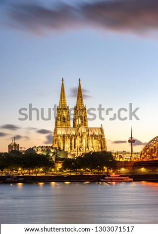 Cologne Cathedral  is a Catholic cathedral in Cologne, Northrhine-Westfalia, Germany. #1303071517