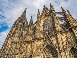Cologne Cathedral, monument of German Catholicism and Gothic architecture  in Cologne, Germany.