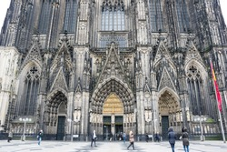 Cologne Cathedral (officially High Cathedral of Saint Peter) is a Roman Catholic cathedral in Cologne, Germany. It is Germany's most visited landmark and currently the tallest twin-spired church