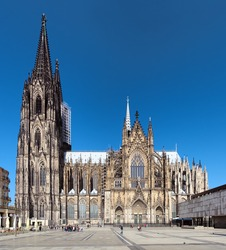 Cologne Cathedral on the south side, Germany