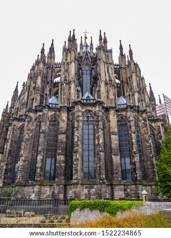 Cologne Cathedral or Cathedral Church of Saint Peter, exterior partial view #1522234865