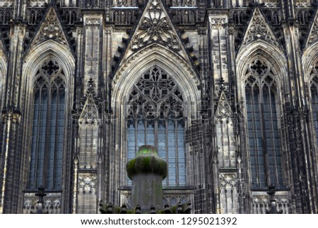Cologne Cathedral. World Heritage - a Roman Catholic Gothic cathedral in Cologne. Cologne Cathedral. World Heritage - a Roman Catholic Gothic cathedral in Cologne. #1295021392