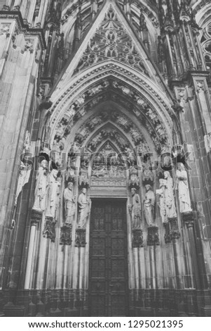 Cologne Cathedral. World Heritage - a Roman Catholic Gothic cathedral in Cologne. Cologne Cathedral. World Heritage - a Roman Catholic Gothic cathedral in Cologne. #1295021395