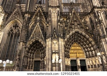 Cologne Cathedral. World Heritage - a Roman Catholic Gothic cathedral in Cologne. Cologne Cathedral. World Heritage - a Roman Catholic Gothic cathedral in Cologne. #1295021401