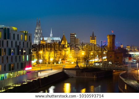 Cologne Cityscape, Germany #1010593714