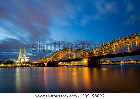 Cologne Kathedral and Bridge by bnight Stock photo ©