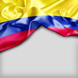 Colombia Country Flag on white background