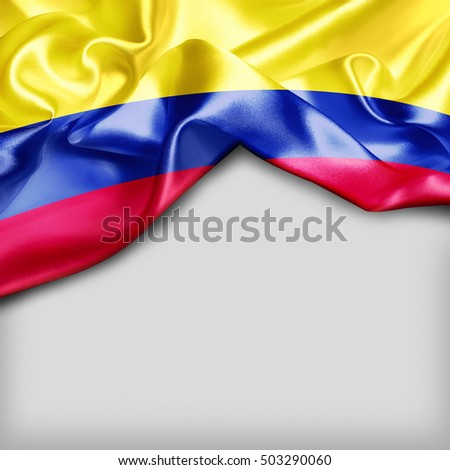 Colombia Country Flag on white background #503290060