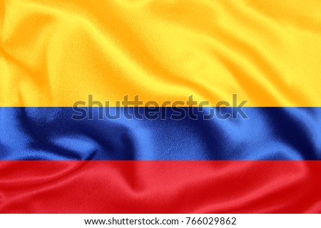 colombia Fabric Flag Stock photo ©