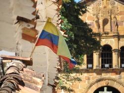 Colombia flag Barichara