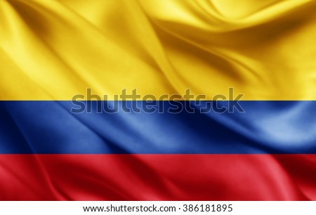 Shutterstock Colombia flag of silk