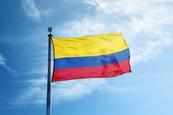 Colombia Flag on the mast