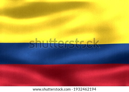 Colombia flag - realistic waving fabric flag Stock photo ©