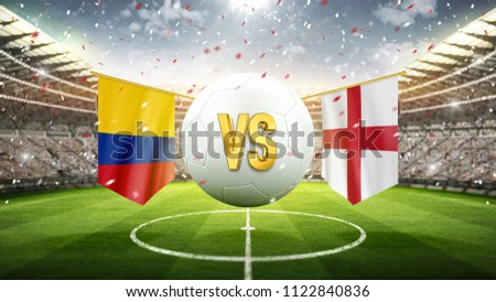 colombia vs england. soccer...