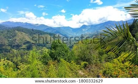 Colombias Zona Cafetera ridge Mountains Foto stock ©