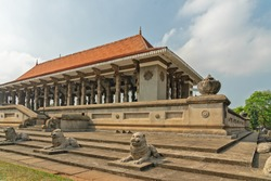 Colombo city architecture, Sri Lanka. Independence Memorial Hall - National monument.