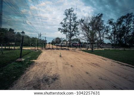 Colonia Carlos Pellegrini - June 28, 2017: Town of Colonia Carlos Pellegrini, Argentina #1042257631