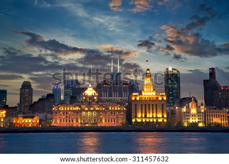 Colonial architecture at The Bund, Shanghai, China