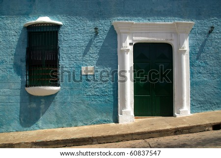 Colonial architecture in a UNESCO world heritage of Venezuela