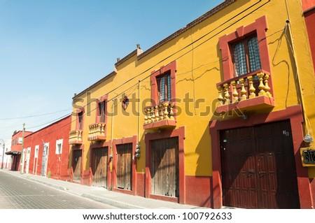 Colonial architecture in Cholula, Puebla (Mexico)