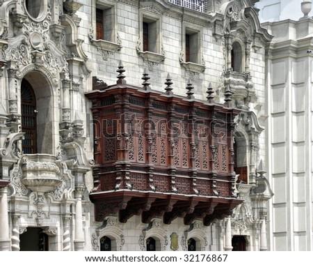 Colonial architecture in Lima Peru