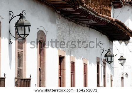 Colonial architecture in Patzcuaro (Mexico)