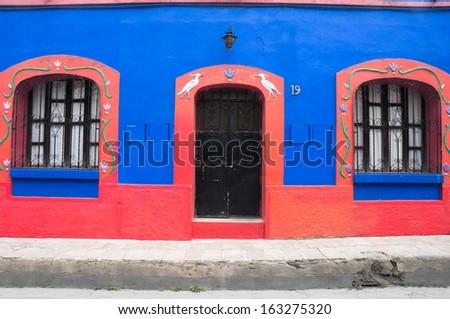 Colonial architecture in San Cristobal de las Casas (Mexico)