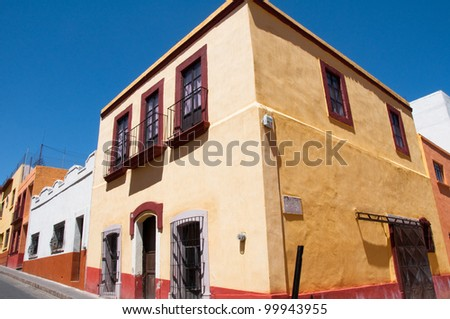 Colonial architecture in Zacatecas (Mexico)