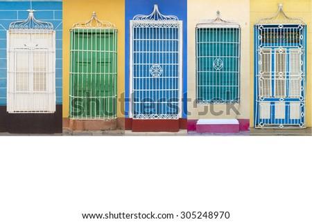 Colonial architecture of Cuba, Trinidad windows