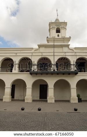 Colonial Cabildo building in Salta, Argentina.