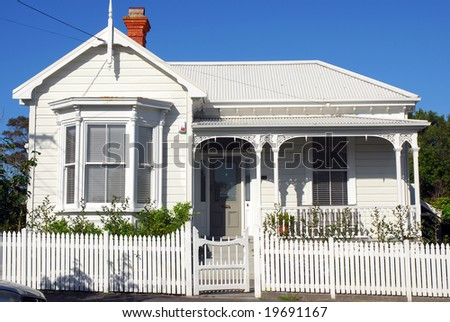 colonial villa in new zealand stock photo 19691167 shutterstock. Black Bedroom Furniture Sets. Home Design Ideas
