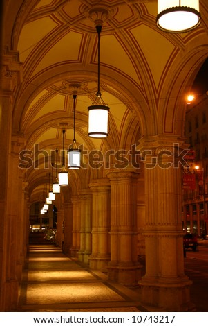 Colonnade at Vienna State Opera
