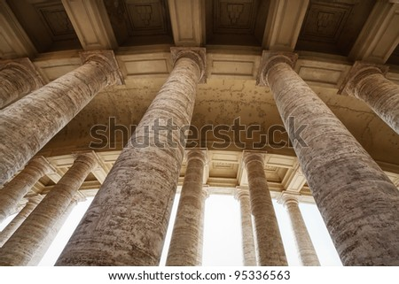 Colonnades of St. Peter's Square in Vatican
