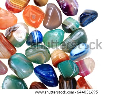 color agate collection as nice mineral background     #644051695