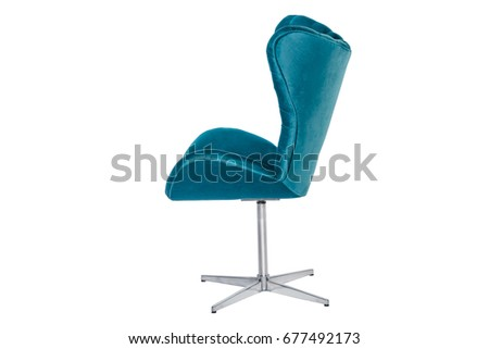 Color armchair. modern designer chair on white #677492173