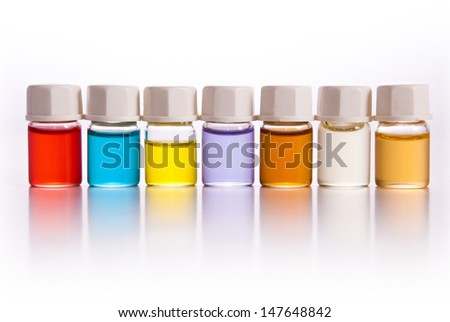 Color aroma bottles.